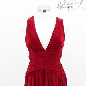A24 BCBG MAX AZRIA Designer Dress Size 4 Red Bodyc